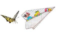 Бабочка и дети Стоковые Фотографии RF