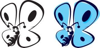 Бабочка книжка-раскраски Стоковые Фотографии RF