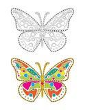 Бабочка мандалы красочная Стоковое Изображение