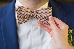 Бабочка на костюме Стоковая Фотография RF