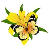 Бабочка на flower-1 Стоковые Фото