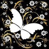 бабочка предпосылки флористическая бесплатная иллюстрация