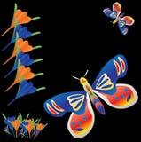 бабочка предпосылки Иллюстрация штока