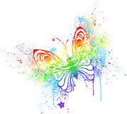 Бабочка радуги Стоковые Изображения RF