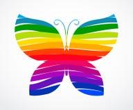 Бабочка радуги состояла из лент Стоковое фото RF