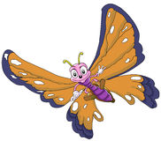 Бабочка смешная Стоковая Фотография