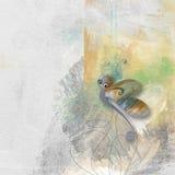 Бабочка с текстурированной предпосылкой Стоковое Фото