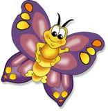 бабочка фиолетового крыла оживленная бесплатная иллюстрация