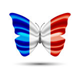 Бабочка флага Франции Стоковое Изображение RF