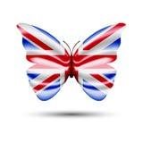 Бабочка флага Юниона Джек Стоковые Фото