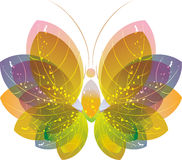 бабочка цветастое eps10 над белизной Стоковая Фотография