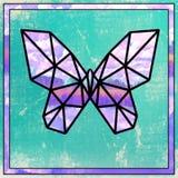 Бабочка цветного стекла стоковые фотографии rf