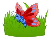 Бабочка шаржа Стоковые Фотографии RF