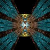 бабочка 2 металлическая Стоковое Фото