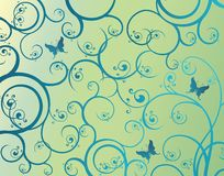 бабочка backgroun флористическая Стоковые Фото