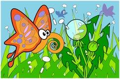 бабочка blowball Стоковое фото RF