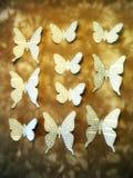 Бабочки газеты Бумажное вырезывание Стоковое фото RF