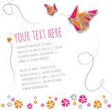 2 бабочки летая вокруг текста Стоковое фото RF