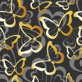 бабочки золотистые Иллюстрация вектора