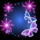 Бабочки и звезды бесплатная иллюстрация