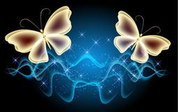 Бабочки и звезды Стоковое Фото
