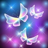 Бабочки и звезды иллюстрация штока