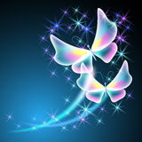 Бабочки и звезды иллюстрация вектора