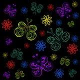 Бабочки и цветки бесплатная иллюстрация