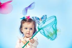 Бабочки малыша заразительные стоковые изображения