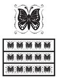 бабочки орнаментируют стилизованное Стоковая Фотография RF
