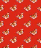 Бабочки павлина на красной предпосылке банкы рисуя цветя замотку акварели валов реки Искусство насекомых Ручная работа картина бе Стоковые Фото