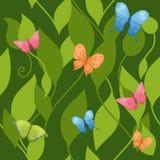 бабочки предпосылки безшовные иллюстрация вектора