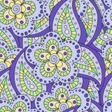 бабочки предпосылки фона doodle флористический пинк картины цветка безшовный Иллюстрация вектора