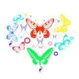 Бабочки сердца Стоковая Фотография