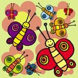 бабочки смешные Стоковые Фото