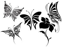 бабочки установили соплеменной Стоковое Изображение