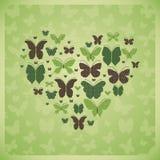 Бабочки формируя сердце Стоковые Фото