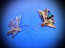 2 бабочки цветного стекла Стоковое Изображение RF