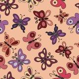 Бабочки шаржа Стоковые Фотографии RF