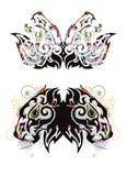 Бабочки льва Grunge Стоковые Изображения