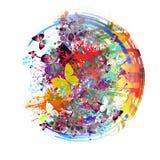 Бабочки Colorfull в абстрактной волшебной предпосылке Стоковые Изображения RF