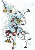 бабочки grungy Стоковое Изображение