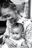 бабушка внучат Стоковое Изображение