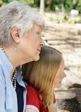 бабушка внучки Стоковая Фотография