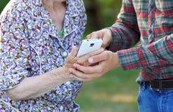 Бабушка и внук Стоковые Фотографии RF
