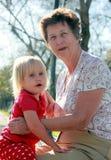 Бабушка и внучка Стоковое Изображение RF