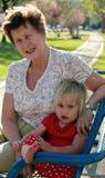 Бабушка и внучка стоковые фото