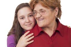 Бабушка и внучка Стоковое Изображение