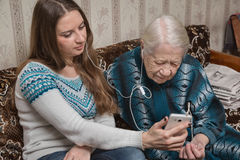 Бабушка и granddaughte Стоковое фото RF