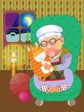 бабушка кота Стоковое Фото